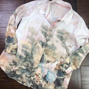Soft Surroundings Poly Blend Button Up